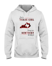 TEXAS GIRL LIVING IN KENTUCKY WORLD Hooded Sweatshirt thumbnail