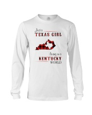 TEXAS GIRL LIVING IN KENTUCKY WORLD Long Sleeve Tee thumbnail