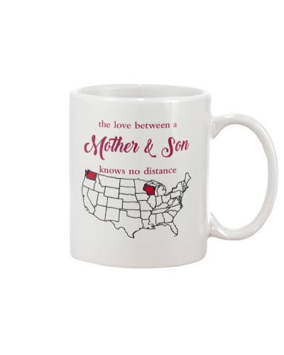 WISCONSIN WASHINGTON THE LOVE MOTHER AND SON