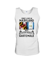 LIVE IN MARYLAND BEGAN IN GUATEMALA Unisex Tank tile