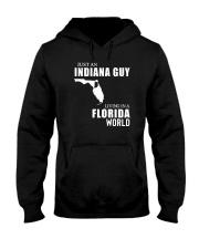 JUST AN INDIANA GUY LIVING IN FLORIDA WORLD Hooded Sweatshirt thumbnail