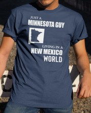 JUST A MINNESOTA GUY LIVING IN NEW MEXICO WORLD Classic T-Shirt apparel-classic-tshirt-lifestyle-28