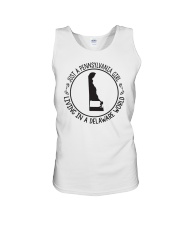 PENNSYLVANIA GIRL LIVING IN DELAWARE WORLD Unisex Tank thumbnail