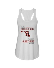 FLORIDA GIRL LIVING IN MARYLAND WORLD Ladies Flowy Tank thumbnail