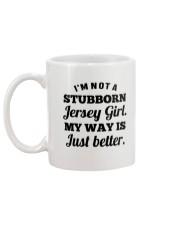 I'M NOT A STUBBORN JERSEY GIRL  Mug back
