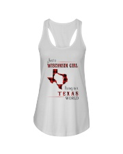 WISCONSIN GIRL LIVING IN TEXAS WORLD Ladies Flowy Tank thumbnail