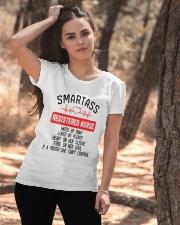 SMARTASS REGISTED NURSE Ladies T-Shirt apparel-ladies-t-shirt-lifestyle-06