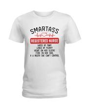 SMARTASS REGISTED NURSE Ladies T-Shirt front