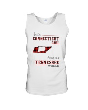 CONNECTICUT GIRL LIVING IN TENNESSEE WORLD Unisex Tank thumbnail