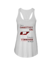 CONNECTICUT GIRL LIVING IN TENNESSEE WORLD Ladies Flowy Tank thumbnail