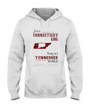 CONNECTICUT GIRL LIVING IN TENNESSEE WORLD Hooded Sweatshirt thumbnail