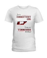 CONNECTICUT GIRL LIVING IN TENNESSEE WORLD Ladies T-Shirt thumbnail