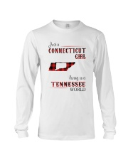 CONNECTICUT GIRL LIVING IN TENNESSEE WORLD Long Sleeve Tee thumbnail