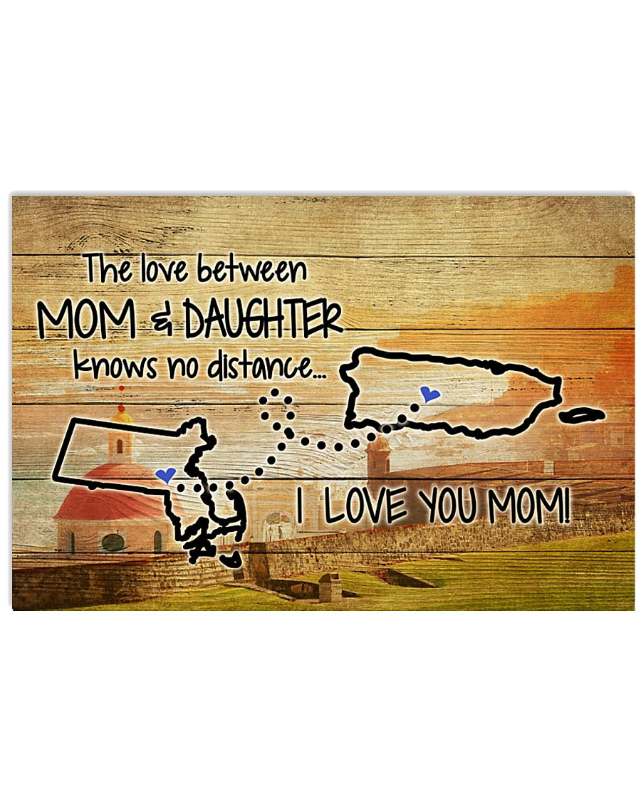 PUERTO RICO MASSACHUSETTS MOTHER AND DAUGHTER 24x16 Poster