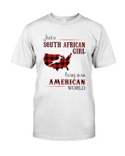 SOUTH AFRICAN GIRL LIVING IN AMERICAN WORLD Classic T-Shirt front