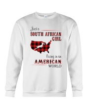 SOUTH AFRICAN GIRL LIVING IN AMERICAN WORLD Crewneck Sweatshirt thumbnail