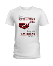 SOUTH AFRICAN GIRL LIVING IN AMERICAN WORLD Ladies T-Shirt thumbnail