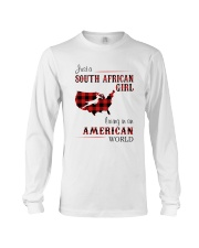 SOUTH AFRICAN GIRL LIVING IN AMERICAN WORLD Long Sleeve Tee thumbnail