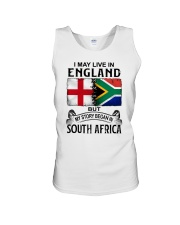 LIVE IN ENGLAND BEGAN IN SOUTH AFRICA Unisex Tank thumbnail