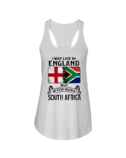 LIVE IN ENGLAND BEGAN IN SOUTH AFRICA Ladies Flowy Tank thumbnail