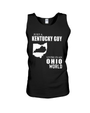 JUST A KENTUCKY GUY LIVING IN OHIO WORLD Unisex Tank thumbnail