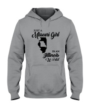 JUST A MISSOURI GIRL IN AN ILLINOIS WORLD Hooded Sweatshirt tile