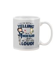 I'M A RHODE ISLAND GIRL WE JUST TALK LOUD Mug thumbnail