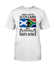 LIVE IN SCOTLAND BEGAN IN SOUTH AFRICA Classic T-Shirt tile