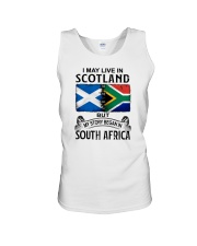 LIVE IN SCOTLAND BEGAN IN SOUTH AFRICA Unisex Tank thumbnail