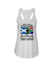 LIVE IN SCOTLAND BEGAN IN SOUTH AFRICA Ladies Flowy Tank thumbnail