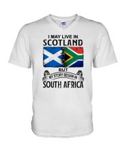 LIVE IN SCOTLAND BEGAN IN SOUTH AFRICA V-Neck T-Shirt thumbnail
