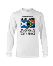 LIVE IN SCOTLAND BEGAN IN SOUTH AFRICA Long Sleeve Tee thumbnail