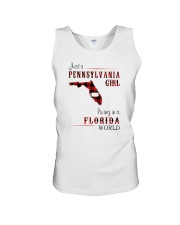 PENNSYLVANIA GIRL LIVING IN FLORIDA WORLD Unisex Tank thumbnail