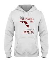 PENNSYLVANIA GIRL LIVING IN FLORIDA WORLD Hooded Sweatshirt thumbnail