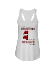 TENNESSEE GIRL LIVING IN MISSISSIPPI WORLD Ladies Flowy Tank thumbnail