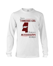 TENNESSEE GIRL LIVING IN MISSISSIPPI WORLD Long Sleeve Tee thumbnail