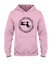 NORTH CAROLINA GIRL LIVING IN  MASSACHUSETTS WORLD Hooded Sweatshirt thumbnail