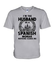I'M THE HUSBAND OF A SPANISH WOMAN V-Neck T-Shirt thumbnail