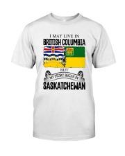 LIVE IN BC IN SASKATCHEWAN ROOT WOMEN Classic T-Shirt tile