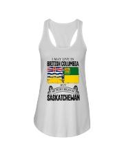 LIVE IN BC IN SASKATCHEWAN ROOT WOMEN Ladies Flowy Tank thumbnail