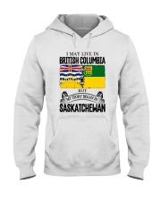 LIVE IN BC IN SASKATCHEWAN ROOT WOMEN Hooded Sweatshirt thumbnail