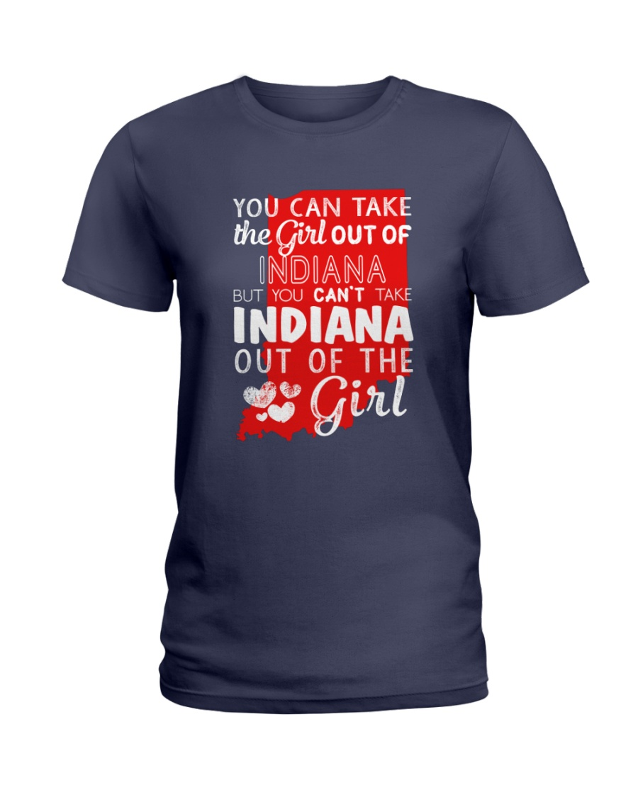 YOU CAN'T TAKE INDIANA OUT OF THE GIRL Ladies T-Shirt