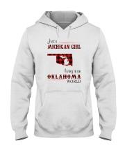 MICHIGAN GIRL LIVING IN OKLAHOMA WORLD  Hooded Sweatshirt thumbnail