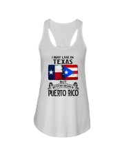 LIVE IN TEXAS BEGAN IN PUERTO RICO Ladies Flowy Tank thumbnail