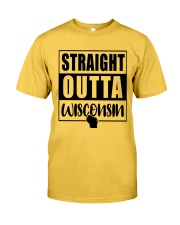 STRAIGHT OUTTA WISCONSIN Classic T-Shirt front