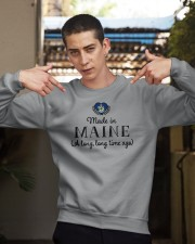 MADE IN MAINE A LONG LONG TIME AGO Crewneck Sweatshirt apparel-crewneck-sweatshirt-lifestyle-04