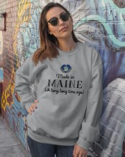 MADE IN MAINE A LONG LONG TIME AGO Crewneck Sweatshirt lifestyle-unisex-sweatshirt-front-3