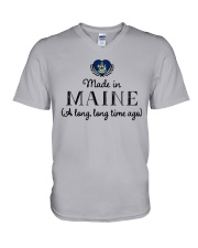 MADE IN MAINE A LONG LONG TIME AGO V-Neck T-Shirt thumbnail