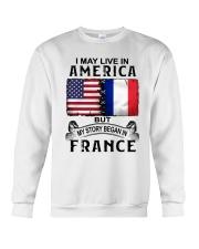 LIVE IN AMERICA BEGAN IN FRANCE Crewneck Sweatshirt thumbnail