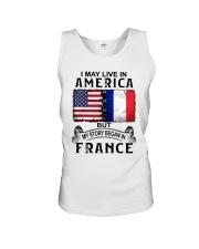 LIVE IN AMERICA BEGAN IN FRANCE Unisex Tank thumbnail